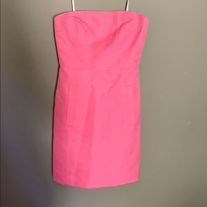 J. Crew bubblegum pink strapless dress
